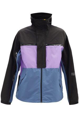 Moncler Warren Stowaway Windbreaker Jacket - Mens - Black Purple