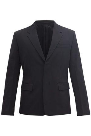 Prada Concealed-button Twill Jacket - Mens - Black