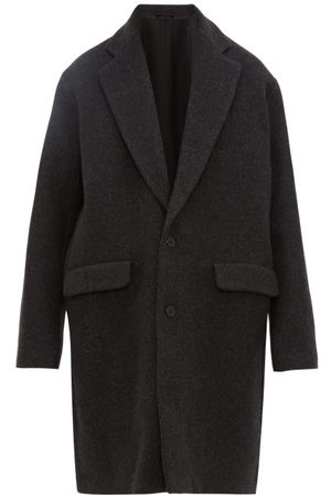 Raey Single-breasted Wool-blend Coat - Mens - Charcoal