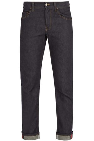 Gucci Mid-rise Straight-leg Denim Jeans - Mens - Blue