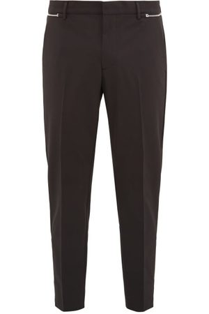 Prada Zipped Technical-gabardine Trousers - Mens - Black