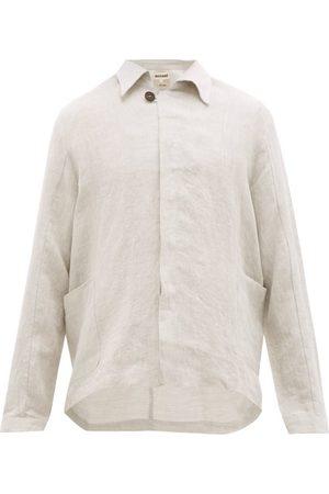 MARANÉ Single-breasted Linen Jacket - Mens