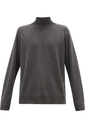 Raey Heren Sweaters - Loose-fit Funnel-neck Cashmere Sweater - Mens - Charcoal