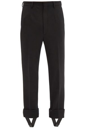 Prada Detachable-stirrup Gabardine Trousers - Mens - Black