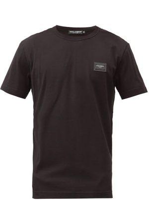 Dolce & Gabbana Heren Shirts - Logo Patch Cotton-jersey T-shirt - Mens - Black