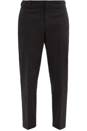 Prada Heren Joggingbroeken - Logo-plaque Nylon-gabardine Trousers - Mens - Black