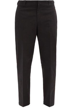 Prada Logo-plaque Nylon-gabardine Trousers - Mens - Black