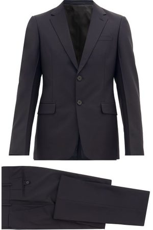 Prada Single-breasted Wool-blend Crepe Suit - Mens - Blue