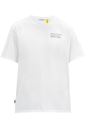 7 MONCLER FRAGMENT Staff-print Cotton-jersey T-shirt - Mens - White