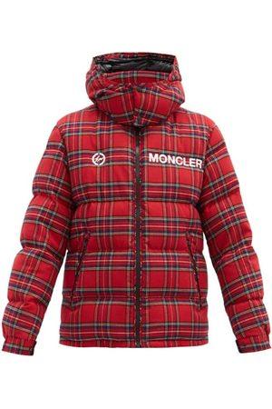 7 MONCLER FRAGMENT Heren Jacks - Mayak Oversized Tartan-flannel Quilted Down Jacket - Mens - Red
