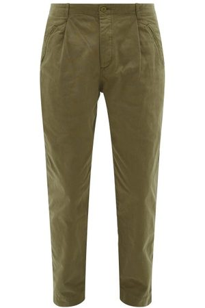 Folk Heren Chino's - Assembly Cotton-canvas Trousers - Mens - Khaki