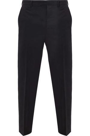 Prada Straight-leg Wool-blend Trousers - Mens - Black