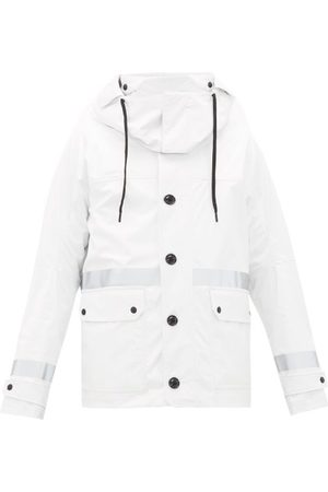 Moncler Heren Parka's - Paillon Logo-patch Technical Hooded Parka - Mens - White