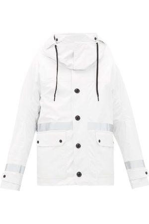 Moncler Paillon Logo-patch Technical Hooded Parka - Mens - White