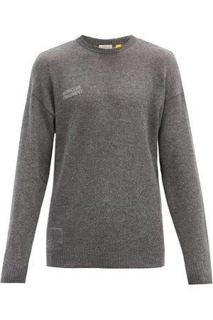 7 MONCLER FRAGMENT Logo-print Cashmere Sweater - Mens - Grey