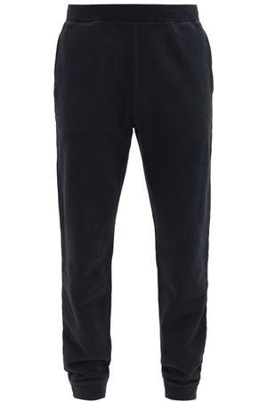 Sunspel Loopback Cotton-jersey Track Pants - Mens - Black