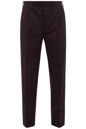 Prada Cotton-twill Chino Trousers - Mens - Black
