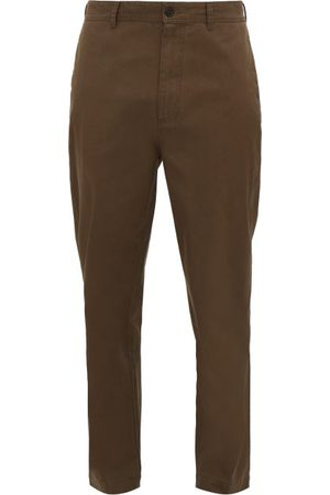Raey Tapered Cotton Chino Trousers - Mens - Brown
