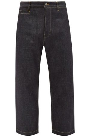 STUDIO NICHOLSON Bill 102 Selvedge-denim Wide-leg Jeans - Mens - Blue