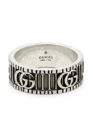 Gucci Heren Ringen - GG Marmont Silver Ring - Mens - Silver