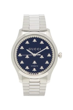 Gucci Heren Horloges - G-timeless Stainless-steel Watch - Mens - Silver