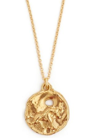 Alighieri Heren Kettingen - Taurus 24kt Gold-plated Pendant Necklace - Mens - Gold