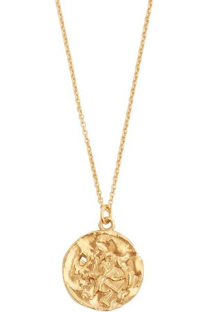Alighieri Heren Kettingen - Sagittarius 24kt Gold-plated Necklace - Mens - Gold