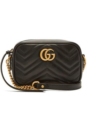 Gucci Dames Schoudertassen - GG Marmont Mini Quilted-leather Cross-body Bag - Womens - Black