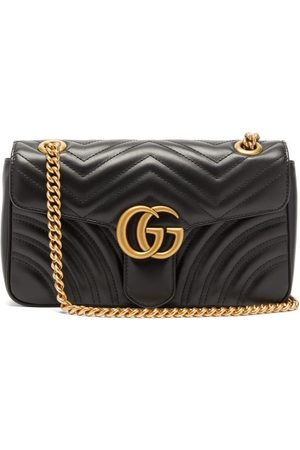 Gucci Dames Schoudertassen - GG Marmont Small Quilted-leather Cross-body Bag - Womens - Black