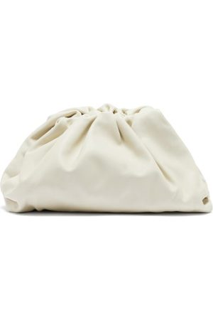 Bottega Veneta The Pouch Large Leather Clutch - Womens - White