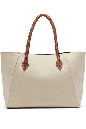 Métier Perriand Collapsible Linen-canvas Tote Bag - Womens - Multi
