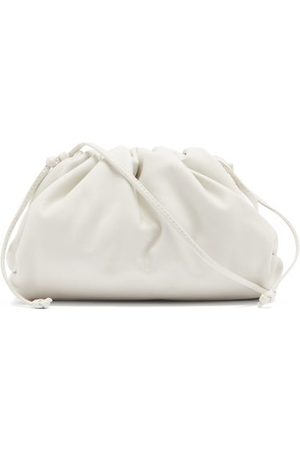Bottega Veneta The Pouch Small Leather Clutch - Womens - White