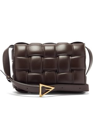 Bottega Veneta Cassette Small Intrecciato-leather Cross-body Bag - Womens - Brown