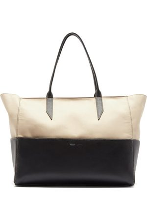 Métier Incognito Small Cabas And Leather Tote Bag - Womens - Black Multi