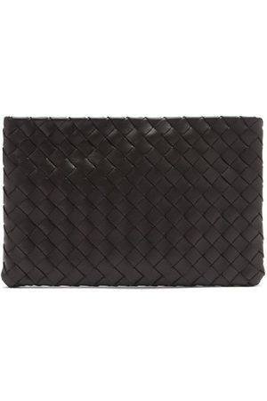 Bottega Veneta Dames Clutches - Intrecciato Leather Zip Pouch - Womens - Black