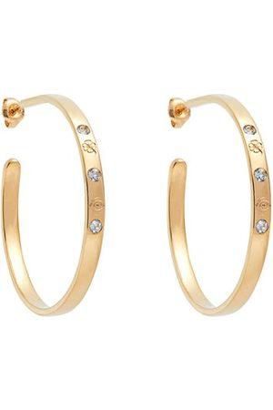 Aurélie Bidermann Topaz & 18kt Gold Hoop Earrings - Womens - Yellow Gold