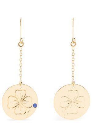 Aurélie Bidermann Clover Sapphire & Yellow-gold Earrings - Womens - Yellow Gold
