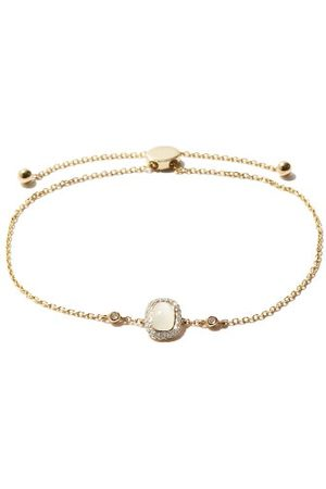 Anissa Kermiche June Moonstone, Diamond & 14kt Gold Bracelet - Womens - White Multi
