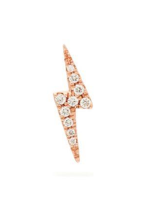 Maria Tash Lightning 18kt Gold & Diamond Single Earring - Womens - Rose Gold