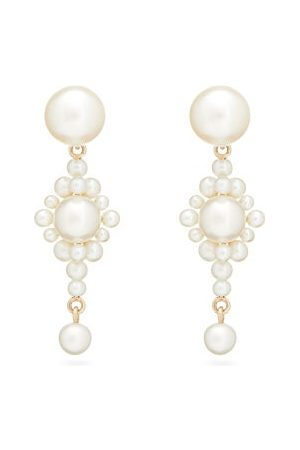 SOPHIE BILLE BRAHE Venezia Pearl & 14kt Gold Earrings - Womens - Pearl