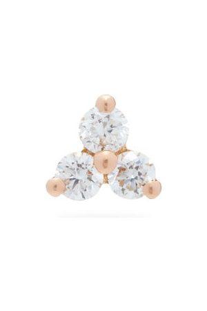 Maria Tash Trinity Diamond & 18kt Rose-gold Single Earring - Womens - Rose Gold