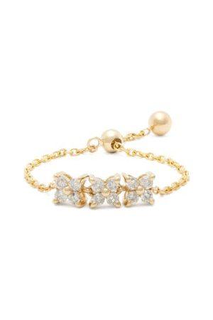 Anissa Kermiche Dames Ringen - Brontë Diamond & Gold Chain Ring - Womens - Yellow Gold
