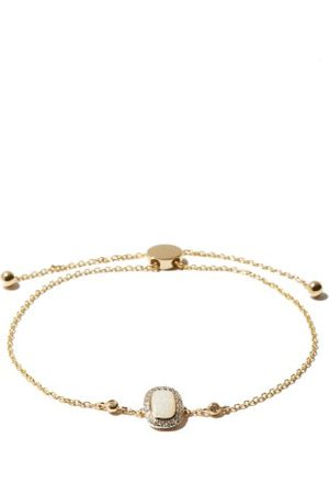 Anissa Kermiche October Opal, Diamond & 14kt Gold Bracelet - Womens - White Multi