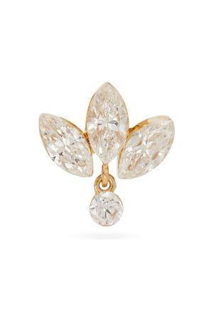 Maria Tash Dames Oorbellen - Lotus Diamond & 18kt Gold Single Earring - Womens - Yellow Gold