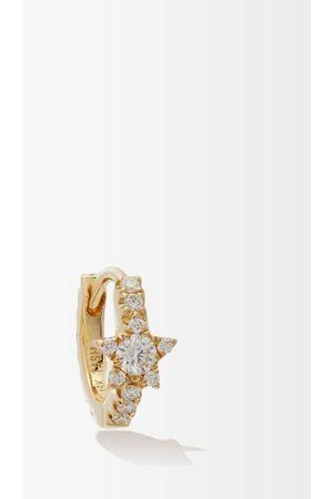 Maria Tash Dames Oorbellen - Star Eternity Diamond & 18kt Gold Single Earring - Womens - Gold