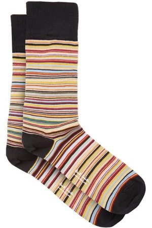 Paul Smith Heren Sokken & Kousen - Signature Stripe Cotton-blend Socks - Mens - Multi