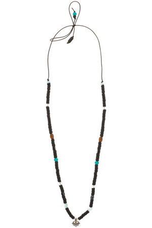 Musa by Bobbie Dames Kettingen - Diamond, Aquamarine & Silver Charm Necklace - Womens - Black