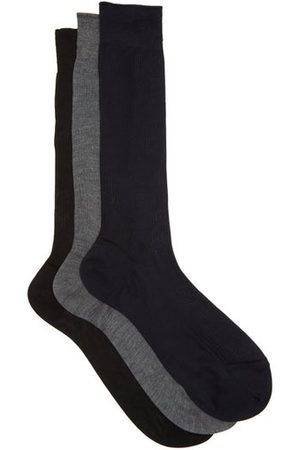 Raey Set Of Three Silk Socks - Mens - Grey Multi