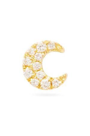 Maria Tash Moon Diamond & 18kt Gold Single Earring - Womens - Yellow Gold
