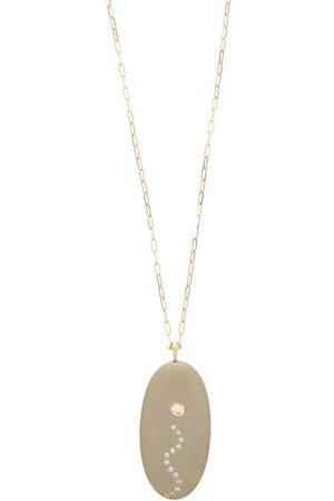 CVC STONES Trickle Diamond & 18kt Gold Necklace - Womens - Light Grey